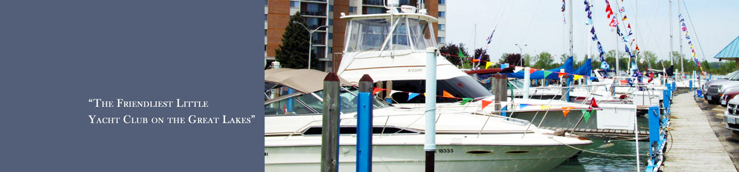 Powerboat at Windsor Yacht Club Dock on Opening Day